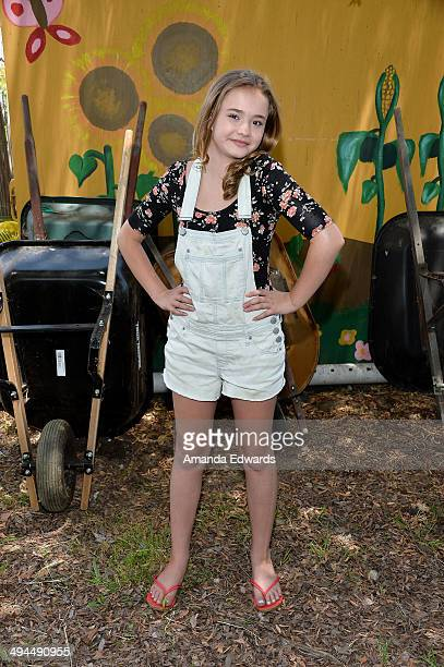 Actress Johnny Sequoyah attends The Environmental Media Association's 5th Annual LA School Garden Program Luncheon at Westminster Avenue Elementary...