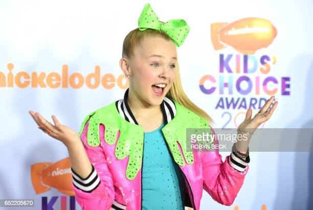 Actress JoJo Siwa arrives for the 30th Annual Nickelodeon Kids' Choice Awards March 11 2017 at the Galen Center on the University of Southern...