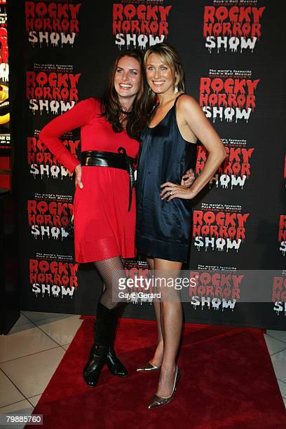 """Actress Jolene Anderson and Actress Allison Cratchley arrives for the """"Rocky Horror Show"""" at Star City on February 20, 2008 in Sydney, Australia."""