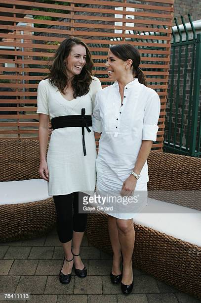 Actress Jolene Anderson and Actress Kate Richie attend the Channel 7 Christmas drinks party at the studio premises in Pyrmont on December 12 2007 in...