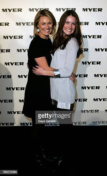 Actress Jolene Anderson and Alison Kratchley arrive at the Myer Spring/Summer Collection Launch at the Carriageworks on August 8, 2007 in Sydney,...