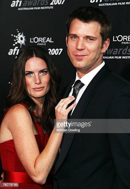 Actress Jolene Anderson and guest arrive at the L'Oreal Paris 2007 AFI Awards Dinner at the Melbourne Exhibition Centre on December 6, 2007 in...