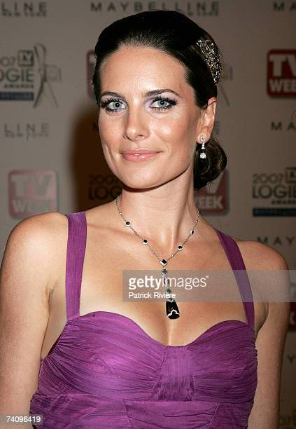 Actress Jolene Anderson arrives at the 2007 TV Week Logie Awards at the Crown Casino on May 6, 2007 in Melbourne, Australia. The annual television...
