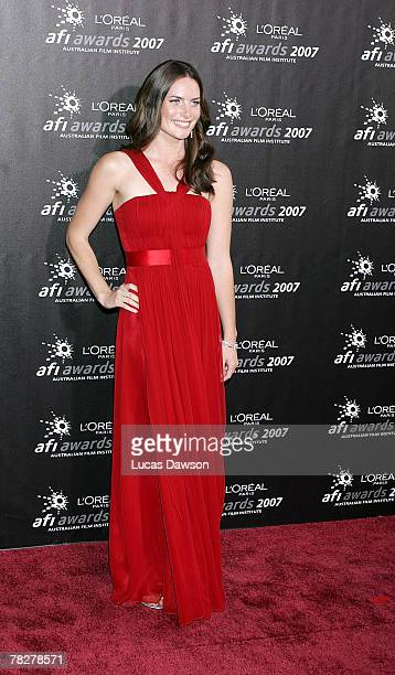 Actress Jolene Anderson arrives at the L'Oreal Paris 2007 AFI Awards Dinner at the Melbourne Exhibition Centre on December 6, 2007 in Melbourne,...