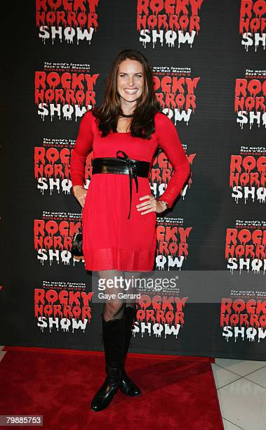 """Actress Jolene Anderson arrives for the """"Rocky Horror Show"""" at Star City on February 20, 2008 in Sydney, Australia."""