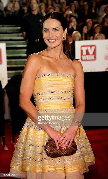 Actress Jolene Anderson arrives on the red carpet at the 50th Annual TV Week Logie Awards at the Crown Towers Hotel and Casino on May 4, 2008 in...