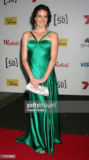 Actress Jolene Anderson attends Channel Seven's TV Turns 50, The Event That Stopped a Nation, at Star City on September 17, 2006 in Sydney, Australia.