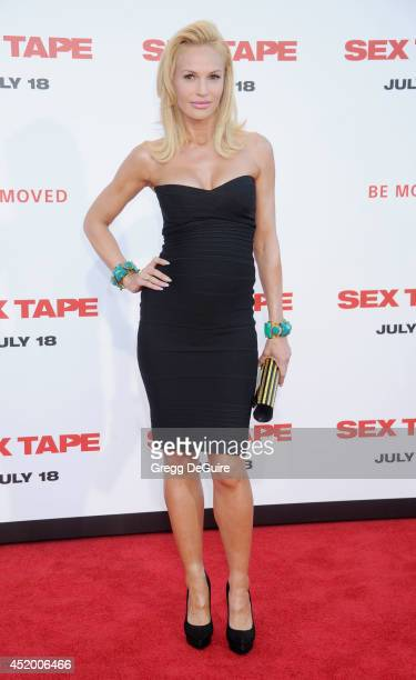 Actress Jolene Blalock arrives at the Los Angeles premiere of Sex Tape at Regency Village Theatre on July 10 2014 in Westwood California