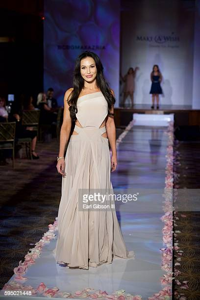 Actress Jolene Blalock models at the MakeAWish Greater Los Angeles Fashion Fundraiser at Taglyan Cultural Complex on August 24 2016 in Hollywood...