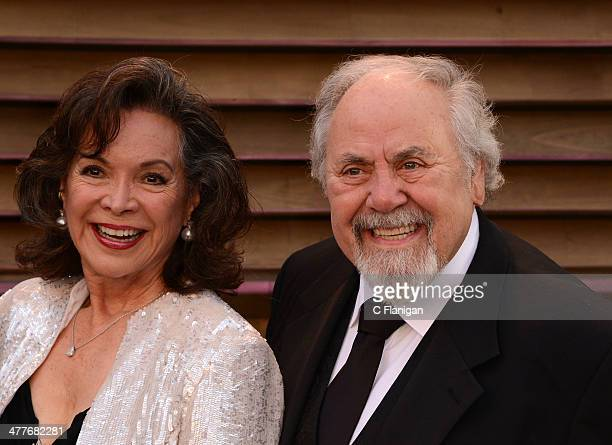 Actress Jolene Brand and producer/director George Schlatter arrive to the 2014 Vanity Fair Oscar Party on March 2 2014 in West Hollywood California