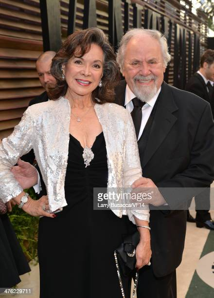 Actress Jolene Brand and producer/director George Schlatter attend the 2014 Vanity Fair Oscar Party Hosted By Graydon Carter on March 2 2014 in West...
