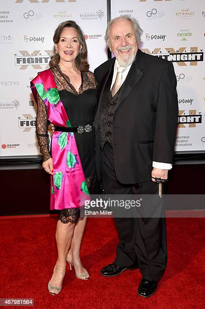 Actress Jolene Brand and television producer George Schlatter attend Muhammad Ali's Celebrity Fight Night XXI at the JW Marriott Phoenix Desert Ridge...
