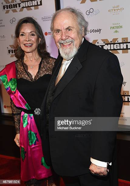 Actress Jolene Brand and TV producer George Schlatter attends Muhammad Ali's Celebrity Fight Night XXI at the JW Marriott Phoenix Desert Ridge Resort...