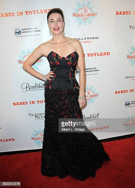 Actress Jon Mack arrives for the 2015 Babes In Toyland And BenchWarmer Charity Toy Drive held at Avalon on December 9 2015 in Hollywood California