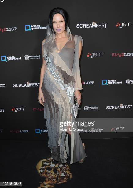 Actress Jon Mack arrives for the Screamfest LA Opening Night Screening Of 'The Amityville Murders' at TCL Chinese 6 Theatres on October 9 2018 in...