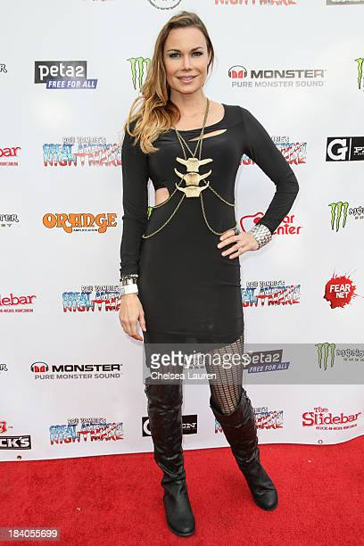 Actress Jon Mack attends Rob Zombie's Great American Nightmare VIP opening night party at Pomona FEARplex on October 10 2013 in Pomona California