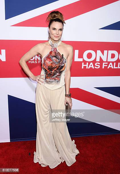 Actress Jon Mack attends the premiere of Focus Features' 'London Has Fallen' held at ArcLight Cinemas Cinerama Dome on March 1 2016 in Hollywood...