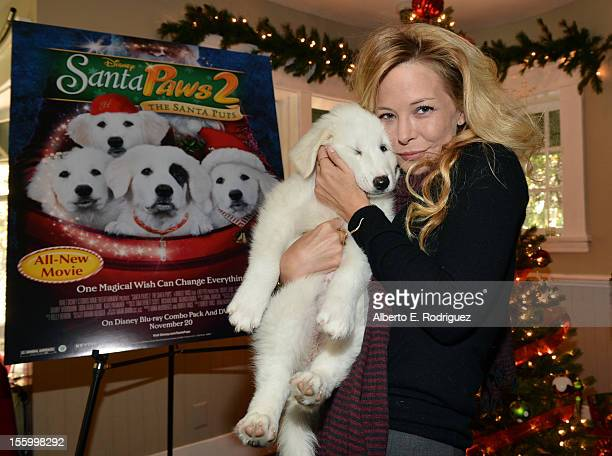 Actress Jordan Ladd attends the 'Santa Paws 2 The Santa Pups' holiday party hosted by Disney Cheryl Ladd and Ali Landry at The Victorian on November...