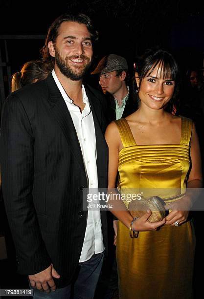 Actress Jordana Brewster and guest attends the Us Weekly 2007 Hot Hollywood party at Opera on September 26 2007 in Los Angeles California