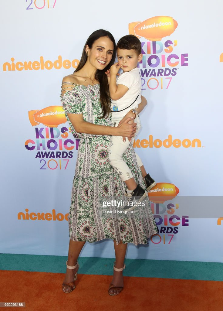 Actress Jordana Brewster (L) and Julian Form-Brewster attend Nickelodeon's 2017 Kids' Choice Awards at USC Galen Center on March 11, 2017 in Los Angeles, California.
