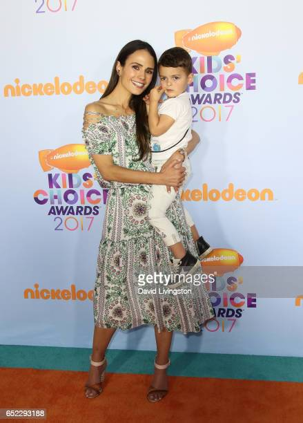 Actress Jordana Brewster and Julian FormBrewster attend Nickelodeon's 2017 Kids' Choice Awards at USC Galen Center on March 11 2017 in Los Angeles...