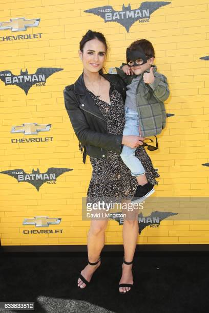 Actress Jordana Brewster and Julian FormBrewster attend the Premiere of Warner Bros Pictures' The LEGO Batman Movie at the Regency Village Theatre on...