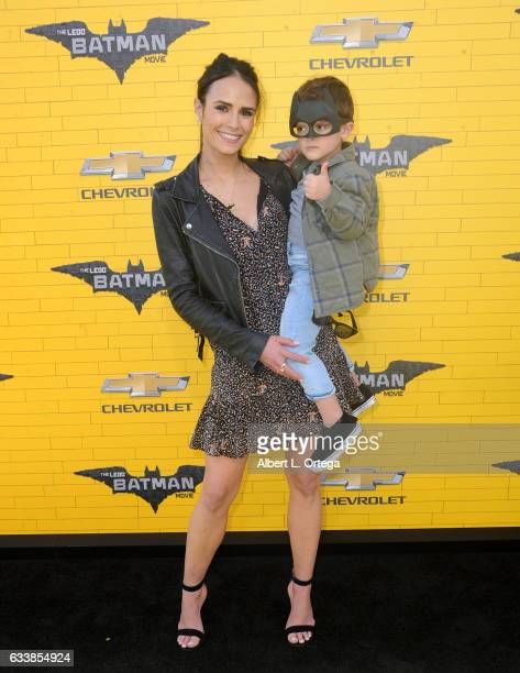 Actress Jordana Brewster and son Julian FormBrewster arrive for the Premiere Of Warner Bros Pictures' 'The LEGO Batman Movie' held at Regency Village...