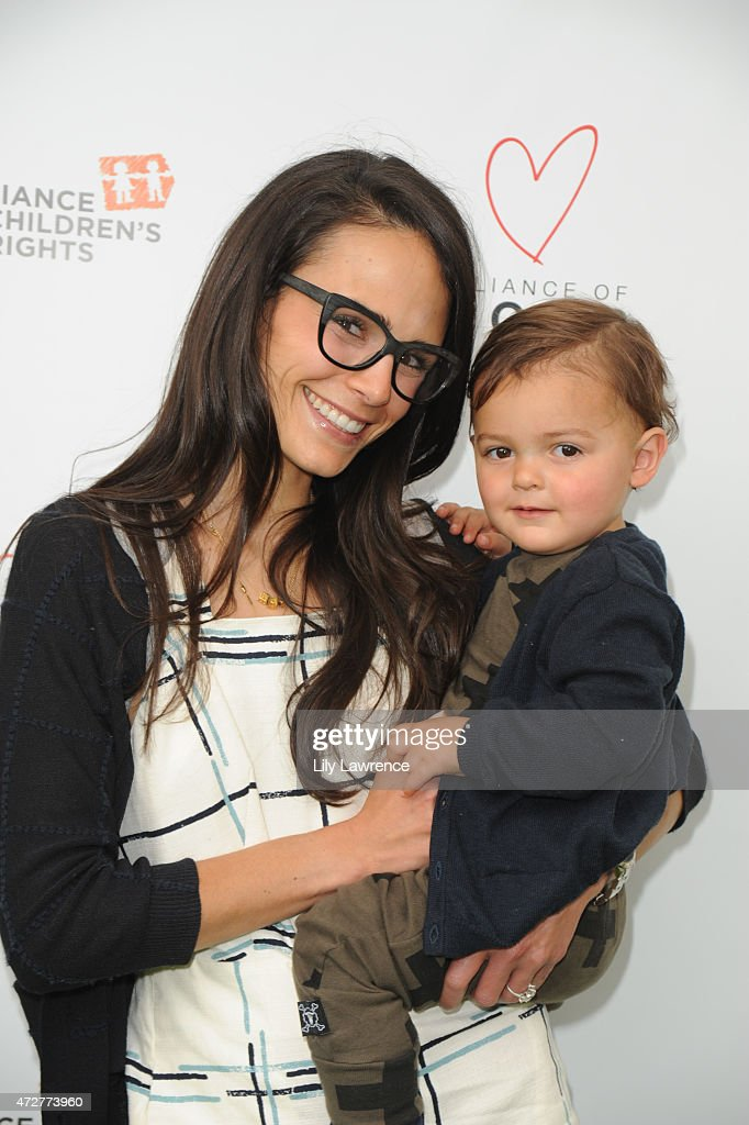 Actress Jordana Brewster and son Julian Form-Brewster attend Alliance Of Moms Giant Playdate on May 9, 2015 in Los Angeles, California.