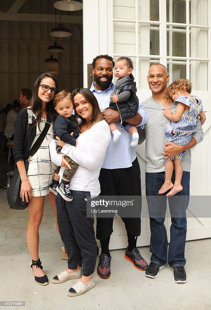 Actress Jordana Brewster and son Julian, Isabella Brewster, Baron Davis and son and guests attend Alliance Of Moms Giant Playdate on May 9, 2015 in Los Angeles, California.