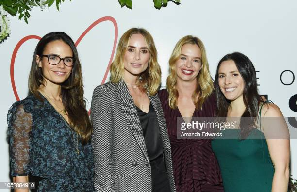 Actress Jordana Brewster Anine Bing Marissa Hermer and Hannah Skvarla attend the Alliance of Moms' Cocktails and Conversation event at The Draycott...