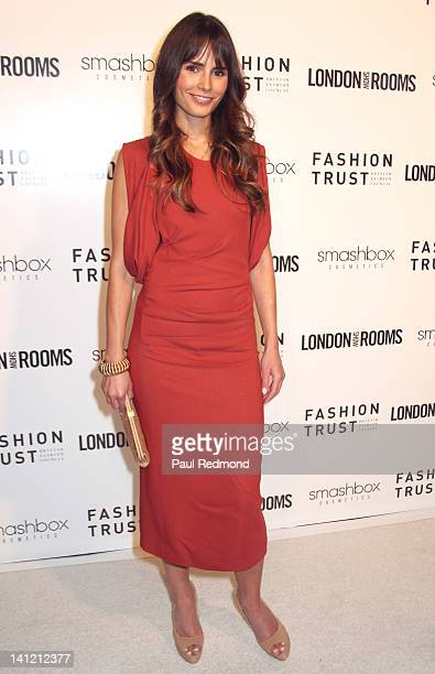 Actress Jordana Brewster arrives at British Fashion Council's International Showcasing Initiative London Show Rooms LA Cocktail Party at Smashbox...
