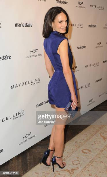 Actress Jordana Brewster arrives at Marie Claire's Fresh Faces Party at Soho House on April 8 2014 in West Hollywood California
