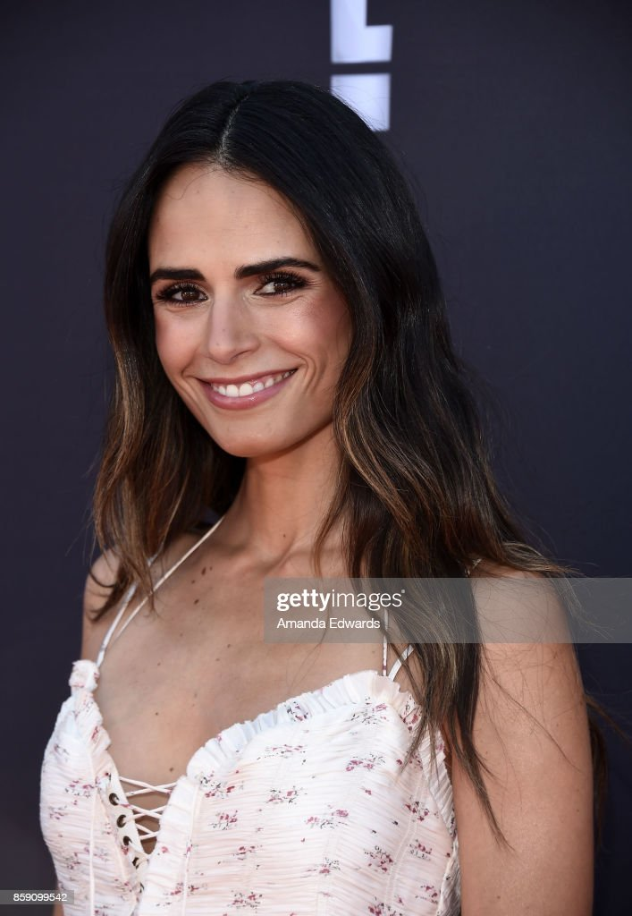 Actress Jordana Brewster arrives at P.S. ARTS' Express Yourself 2017 at Barker Hangar on October 8, 2017 in Santa Monica, California.