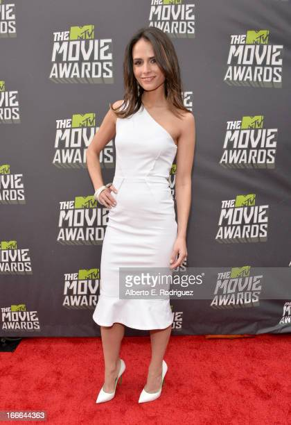 Actress Jordana Brewster arrives at the 2013 MTV Movie Awards at Sony Pictures Studios on April 14 2013 in Culver City California