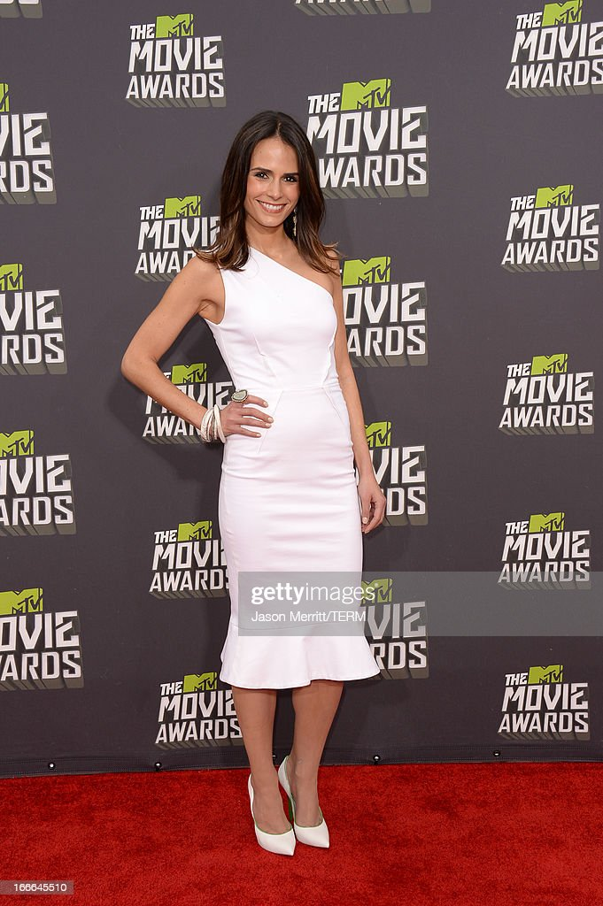 Actress Jordana Brewster arrives at the 2013 MTV Movie Awards at Sony Pictures Studios on April 14, 2013 in Culver City, California.