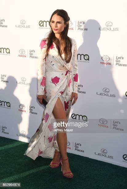 Actress Jordana Brewster arrives at the 27th Annual EMA Awards at Barker Hangar on September 23 2017 in Santa Monica California