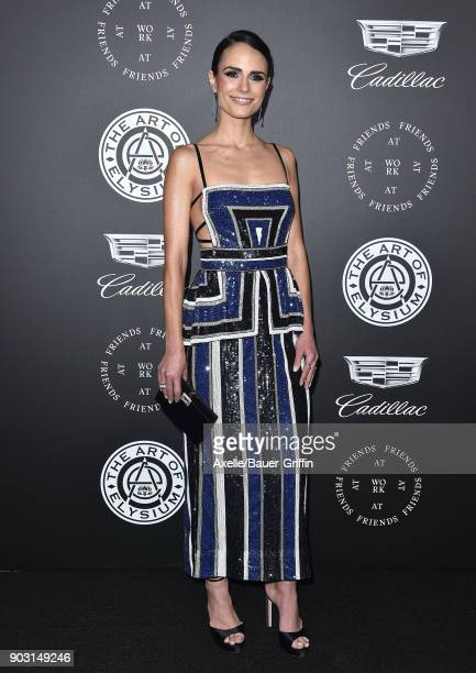 Actress Jordana Brewster arrives at The Art of Elysium's 11th Annual Celebration Heaven at Barker Hangar on January 6 2018 in Santa Monica California