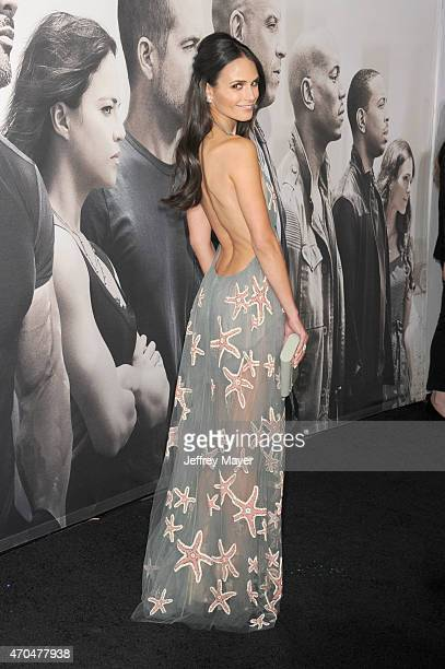 Actress Jordana Brewster arrives at the 'Furious 7' Los Angeles Premiere at TCL Chinese Theatre IMAX on April 1 2015 in Hollywood California