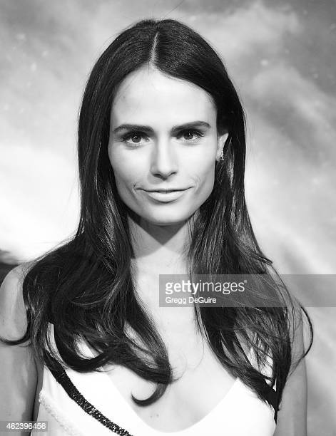 Actress Jordana Brewster arrives at the Los Angeles premiere of 'Project Almanac' at TCL Chinese Theatre on January 27 2015 in Hollywood California
