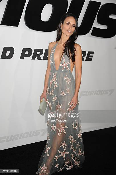 Actress Jordana Brewster arrives at the premiere of Furious 7 held at the TCL Chinese Theater in Hollywood