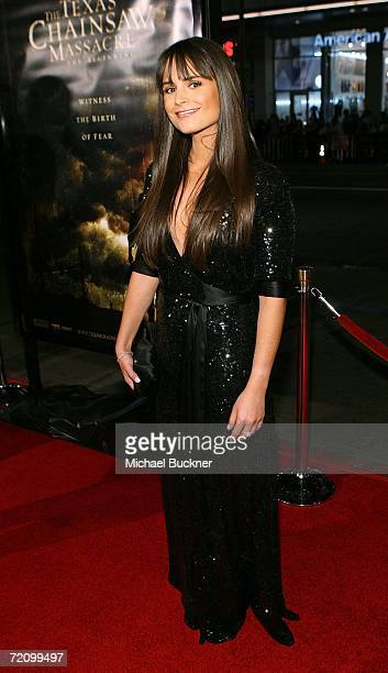 Actress Jordana Brewster arrives at the premiere of New Line's Texas Chainsaw Massacre The Beginning at Grauman's Chinese Theatre on October 5 2006...