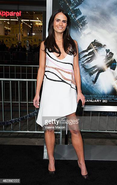 Actress Jordana Brewster arrives at the Premiere Of Paramount Pictures' 'Project Almanac' at TCL Chinese Theatre on January 27 2015 in Hollywood...