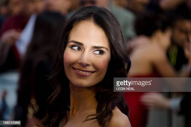 US actress Jordana Brewster arrives at the world premiere of 'Fast and Furious 6' at the Empire cinema in Leicester Square in central London on May 7...