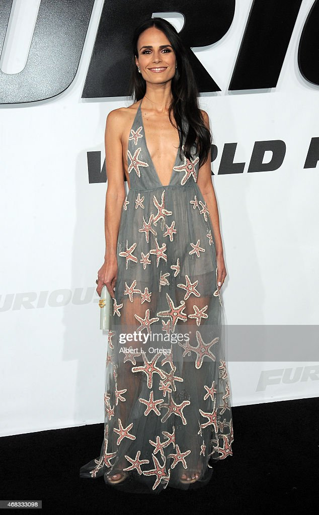Actress Jordana Brewster arrives for the Premiere Of Universal Pictures' 'Furious 7' held at TCL Chinese Theatre on April 1, 2015 in Hollywood, California.