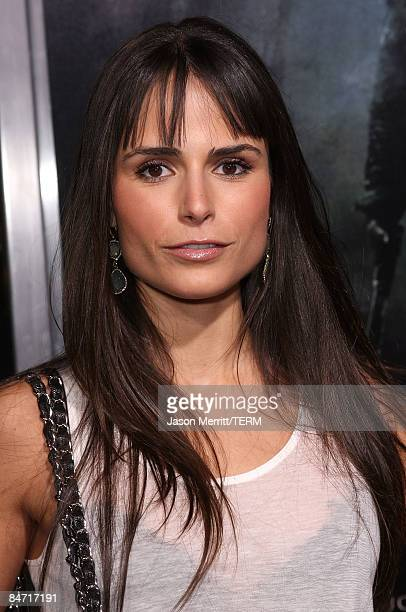 Actress Jordana Brewster arrives on the red carpet for the Los Angeles premiere of Friday The 13th at the Graumans Chinese Theater on February 9 2009...