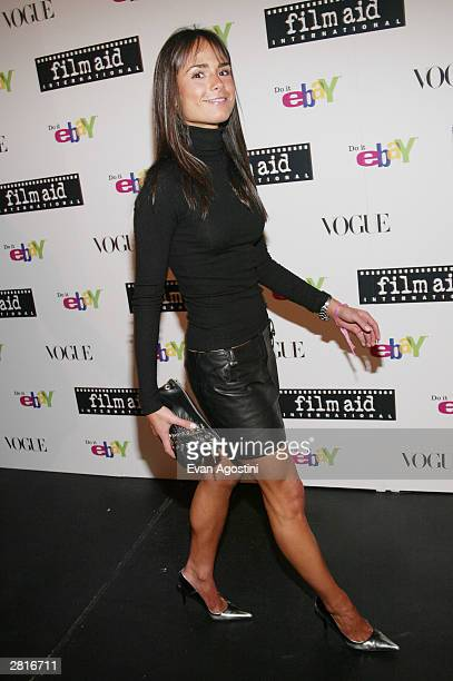 Actress Jordana Brewster attends a FilmAid International benefit party hosted by Vogue and Ebay at Diane von Furstenberg's Studios December 16 2003...