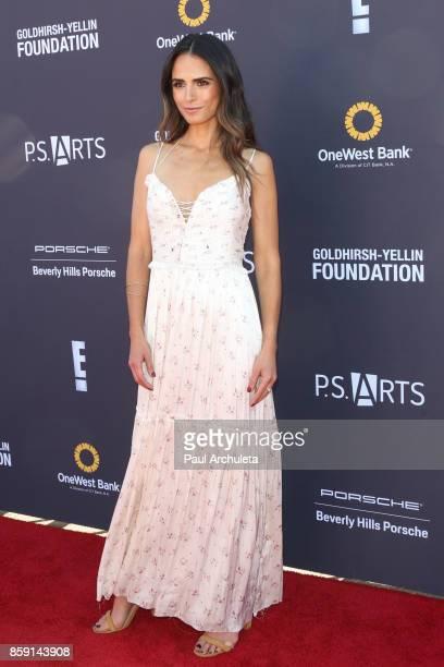 Actress Jordana Brewster attends PS ARTS' Express Yourself 2017 event at Barker Hangar on October 8 2017 in Santa Monica California