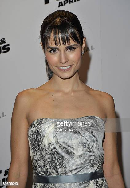 Actress Jordana Brewster attends the Fast and Furious film premiere held at the Vue West End cinema on March 19 2009 in London England