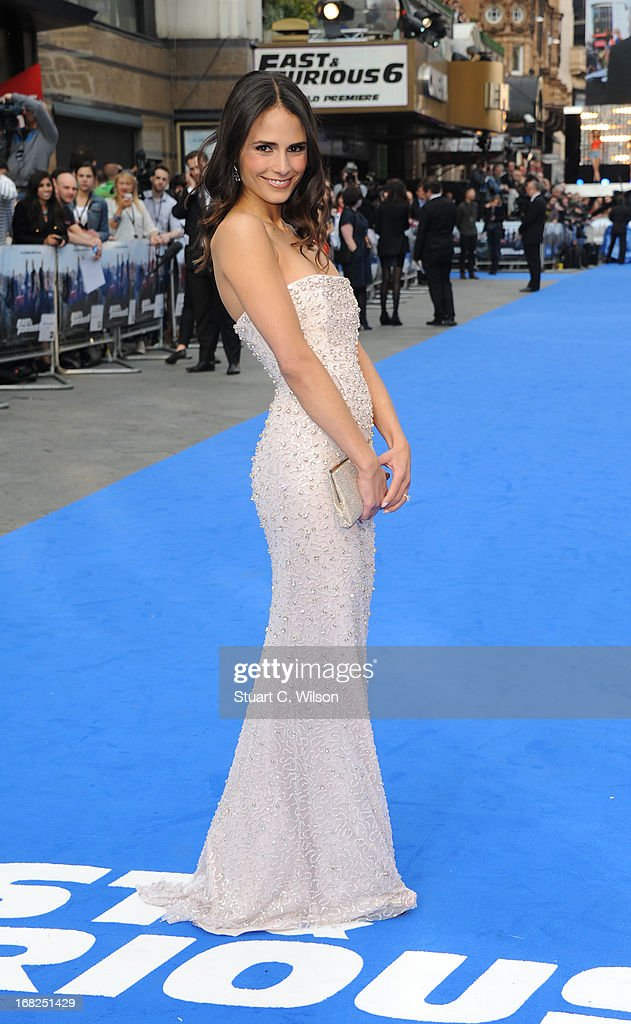 Actress Jordana Brewster attends the 'Fast & Furious 6' World Premiere at The Empire, Leicester Square on May 7, 2013 in London, England.