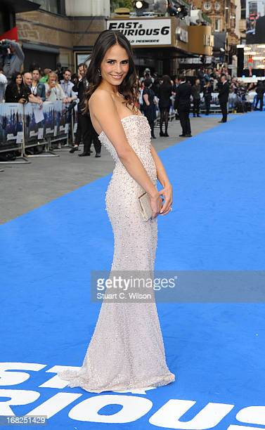 Actress Jordana Brewster attends the Fast Furious 6 World Premiere at The Empire Leicester Square on May 7 2013 in London England